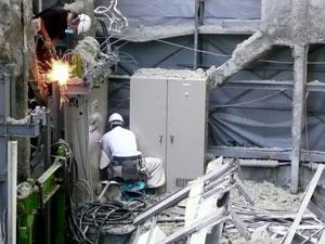 倉庫解体作業