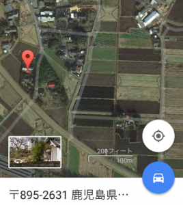 Googleマップ 家解体 位置