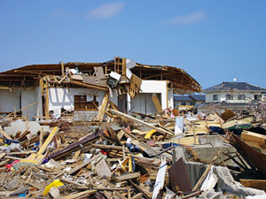 台風被害、火災現場の解体工事の費用について