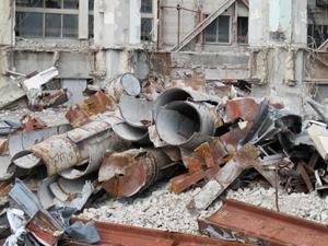 鹿児島 工場のプラント 解体工事