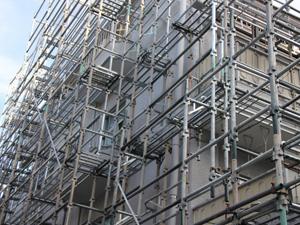鹿児島、マンション解体工事の準備