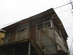 鹿児島、軽量鉄骨造アパート 解体工事