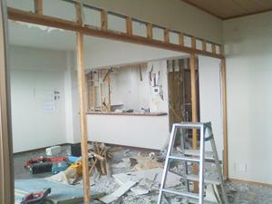 鹿児島、アパート内装解体工事と外装工事