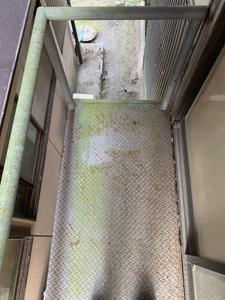 鉄製階段解体前2