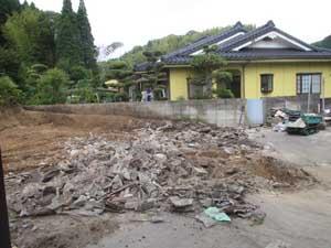 木造小屋解体工事:解体後2