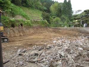 木造小屋解体工事:解体後3