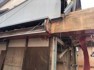 台風で倒壊した木造家屋の解体・撤去工事はお任せ下さい!